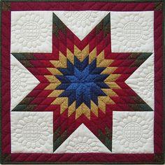 <li>Title: Lone Star Wall Quilt Kit-22x22</li> <li>Brand: Rachel's of Greenfield</li>  <li> Colors: Blue, red, gold, green and cream</li>
