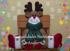 Christmas Chair, Christmas Diy, Christmas Ornaments, Xmas Crafts, Diy Crafts, Decoration, Holiday Decor, Home Decor, Felt Projects
