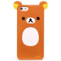 brown Rilakkuma bear with ears iPhone 5 / 5S hard cover case