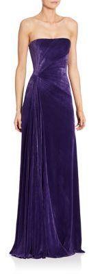 Ralph Lauren Collection Kersten Strapless Velvet Gown   https://api.shopstyle.com/action/apiVisitRetailer?id=538758839&pid=uid2500-37484350-28