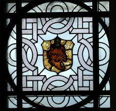 heraldic styled window glasgow