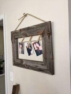 Rustic picture frame - barnwood picture frame - farmhouse decor - rustic decor