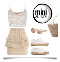 """Mini skirts"" by ohluckyme ❤ liked on Polyvore featuring Balmain, Alexander Wang and Michael Kors"