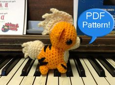 PDF PATTERN for Crochet Growlithe Amigurumi par CraftedCuteness