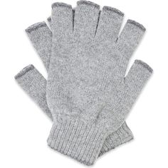 Pringle Fingerless cashmere gloves ($100) ❤ liked on Polyvore featuring men's fashion, men's accessories, men's gloves, mens fingerless gloves and mens cashmere gloves
