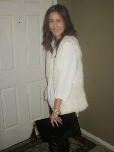 Belle & Grace: My Favorite Fur Vest.....Twice! www.belleandgrace.blogspot.com