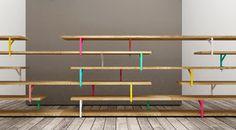 """DIY : une bibliothèque design et unique! equerre serre joint ikea """"ekby tore"""" + peinture en bombe planche en bois petits pied sde meubles 2/3 cm"""