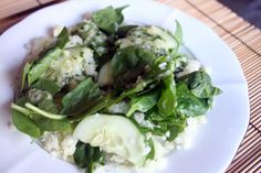 "Very Green Salad with Cucumber, Kohlrabi, Sweet Onion and Herb Vinaigrette from Chef Tal Ronnen's book ""The Conscious Cook"""