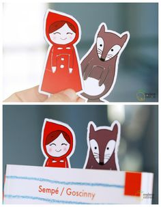 free printable bookmarks - Little Red Riding Hood and the Big Bad Wolf