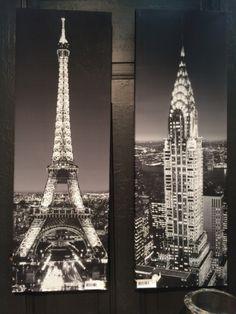 Sett med 2 flotte canvasbilder med mengder av blingstener for å skape glitrende… Tower, Building, Travel, Rook, Viajes, Computer Case, Buildings, Destinations, Traveling