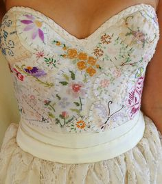 Meadow Bustier Wedding Gown... women dress boho by jadadreaming