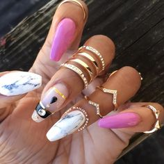 """730 Likes, 6 Comments - Avia Marcia Paul (Marcy) (@thenailistaproject) on Instagram: """"Marble nailswag feat #shopncla 'Ashford White' marble wraps and their #Gelous? gel polish in…"""""""