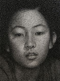 Made from a single unbroken black thread  Kumi Yamashita