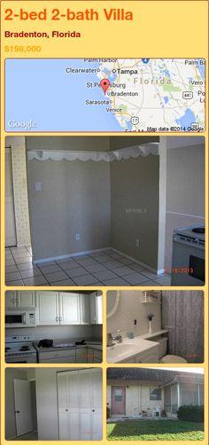2-bed 2-bath Villa in Bradenton, Florida ►$198,000 #PropertyForSale #RealEstate #Florida http://florida-magic.com/properties/78582-villa-for-sale-in-bradenton-florida-with-2-bedroom-2-bathroom