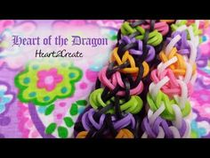 ▶ New Rainbow Loom Tutorial: Heart of the Dragon Bracelet - YouTube