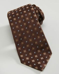 Isaia floral neat silk tie.