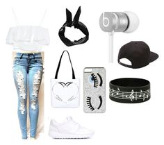 Tenue swag pour une balade by tinaflovelye on Polyvore featuring polyvore, fashion, style, Zara, NIKE, Chiara Ferragni, Beats by Dr. Dre, Vans and Boohoo