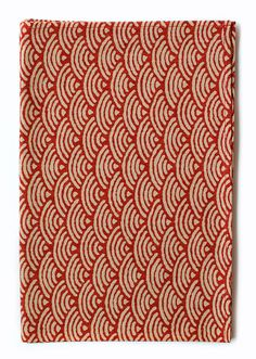 Red Japanese Waves Pocket Square