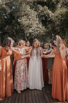 Wedding Bridesmaids, Bridesmaid Dresses, Wedding Dresses, Weddings, Outdoor, Future, Beautiful, Fashion, Boho Wedding