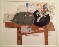 """Saul Steinberg, """"Untitled (Table)"""" (c. 1965), colored pencil, graphite, ink, and collage on paper, 22-1/4"""" x 27-1/2"""""""