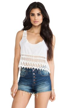 Bettinis Lace Crop Top in White Wash from REVOLVEclothing ($48.00)