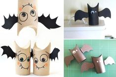 Last Minute Easy To Make Halloween Party Food Ideas for Your Beloved Kids - Rezeki Istiqomah Diy Halloween, Bricolage Halloween, Halloween Infantil, Manualidades Halloween, Halloween Food For Party, Happy Halloween, Halloween Decorations, Toilet Paper Roll Crafts, Paper Crafts