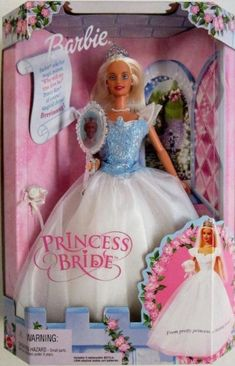 Barbie Princess Bride Doll Mattel 2000 Mirror Pink Brand New Battery Operated Barbie Bridal, Barbie Wedding Dress, Barbie Gowns, Barbie 2000, Mattel Barbie, Pink Barbie, Vintage Barbie, Ariel Doll, Bride Dolls