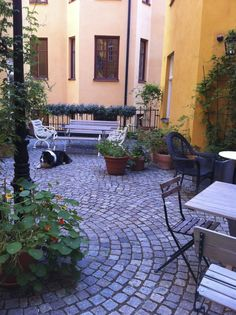 innergård stockholm - Sök på Google Pathways, Porch, Patio, Stockholm, Outdoor Decor, Houses, Google, Home Decor, Balcony