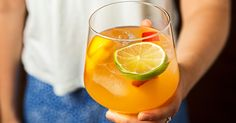 This spicy sangria celebrates the great relationship between peaches and peppers.