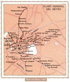 Mapa Metro de Madrid 1969