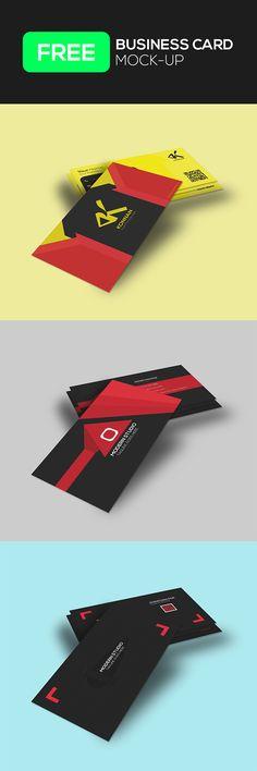 Freebie Business Card Mock-Up on Behance Business Card Mock Up, Calling Cards, Psd Templates, Free Design, Mockup, Presentation, Clip Art, Perspective, Behance