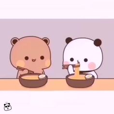 Cute Cartoon Images, Cute Love Pictures, Cute Couple Cartoon, Cute Love Gif, Cute Love Cartoons, Draw So Cute, Cute Panda Cartoon, Cartoon Bear, Cute Panda Wallpaper