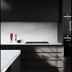 Carrara Marble is perfect in this monochromatic beauty, in Albert Park, by @flackstudios. Builder  IDB   @brookeholm Styling: @marshagolemac #cdkstone #carraramarble #carrara #marble #naturalstone #naturalbeauty #naturesmasterpiece #designinspiration #lovestone #kitcheninspiration #kitchendesign #designinspo #designstyle
