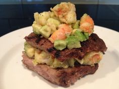 Atkins Induction... Ripped Recipes - Surf and Turf Low Carb Sandwich.  This looks amazing!  I would fry my shrimp in fresh garlic, and butter.