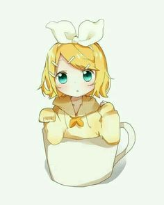 Rin Kagamine Rin-chan in cup~