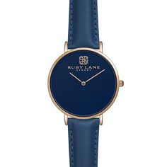Ruby Lane Watches - LIQUID Navy - Rose Gold with a Navy Strap | Ruby Lane Watches