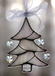 O Christmas Tree Stained Glass Ornament