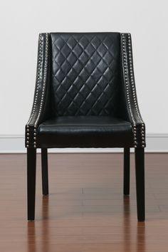 Lenox Black Bonded Leather Dining Chair on @HauteLook