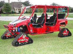 If you play golf in the rough, you need a golf cart like this.
