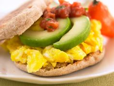 Tex-Mex Breakfast Sandwich http://www.prevention.com/food/cook/8-heart-healthy-breakfasts/low-fat-frittata-smoked-salmon-and-scallions