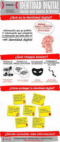 Construye tu #identidaddigital : INTECO Marca Personal, Personal Branding, Internet Marketing, Social Media Marketing, Safe Internet, Ap Language, Ap Spanish, Spanish Class, Digital Literacy