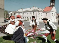 Inhabitants of the Czech Republic and Slovakia have a very special way of showing their love for their women during the Easter weekend. The men go from door to door, whipping the women with a self-made whip; the pomlázka (in Czech) or korbáč (in Slovak). The spanking is not painful or intended to cause suffering. Apparently this tradition is held so that the women keep their health and beauty in the coming year. In return, the ladies give the men a chocolate egg or even some money.