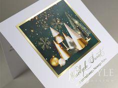 Piękne kartki bożonarodzeniowe ze złoceniem na okładce. Table Decorations, Design, Dinner Table Decorations