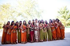 South Asian Wedding Inspiration Board: Orange & Green