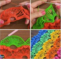 Crochet-Fan-Stitch-Step-By-Step-Tutorials #freecrochetpattern #crocheting #fanstitch