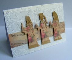 Crafters Companion demo sample using Vintage Christmas embossing folder and Classique dies