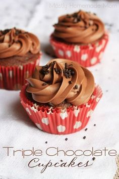 ... chocolate chips and milk chocolate buttercream frosting - these are