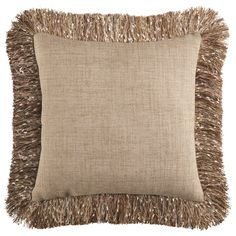 Confetti Fringe Pillow - Natural | Pier 1 Imports