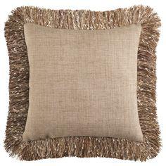 Confetti Fringe Pillow - Natural   Pier 1 Imports