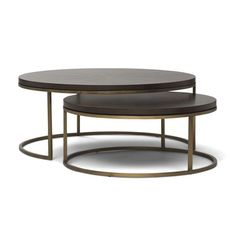 BASSEY NESTING COCKTAIL TABLE, , hi-res    dims: large table 35.5w 35.5d 14.5h    1970